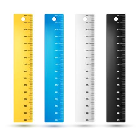 Illustration pour Rulers in centimeters and millimmeters. - image libre de droit