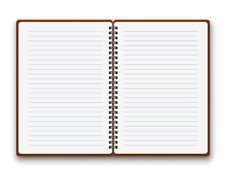 Illustration pour Open notebook - image libre de droit