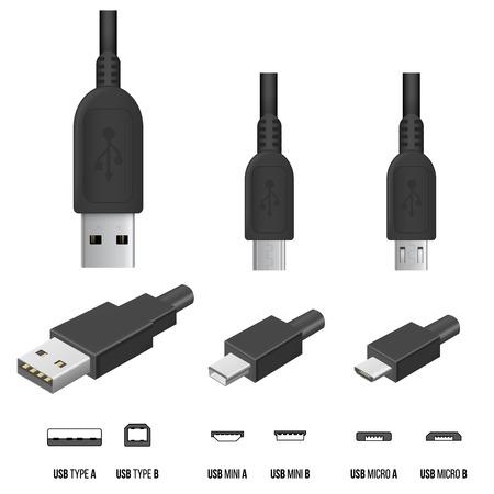 Illustrazione per USB Plugs - Immagini Royalty Free