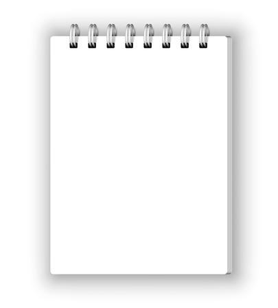 Illustration pour Vertical notebook - image libre de droit