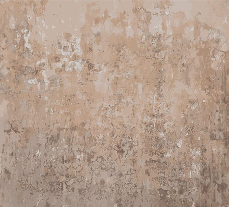 Illustration pour Rusty old-fashioned painted grungy aged wall vector background - image libre de droit