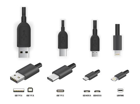 Illustration pour USB all type - image libre de droit