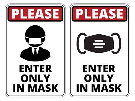 Illustration pour Covid-19 Danger Signs Set - image libre de droit