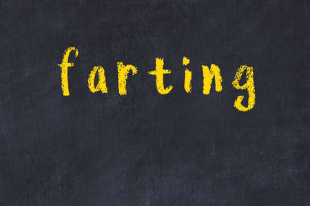 Photo pour College chalkboard  with with handwritten inscription farting on it - image libre de droit