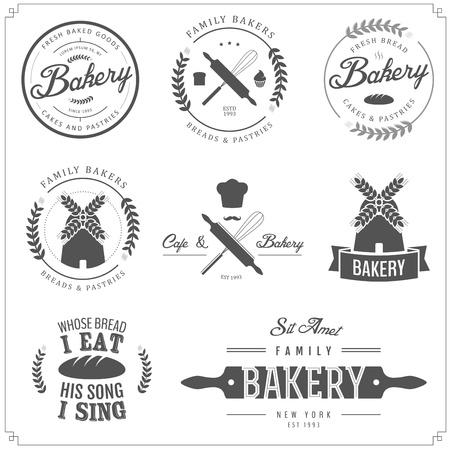 Vektor für Set of bakery labels, badges and design elements - Lizenzfreies Bild