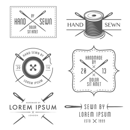 Ilustración de Set of vintage tailor labels and emblems - Imagen libre de derechos