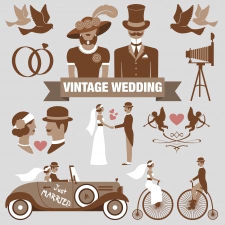 Foto de vintage wedding set - Imagen libre de derechos