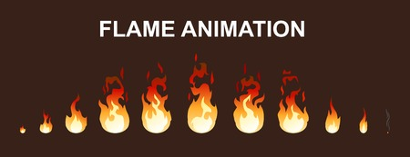 Light fire flames animation collection.
