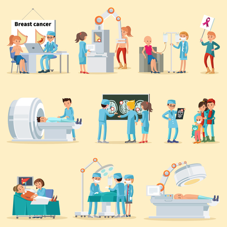 Ilustración de People And Cancer Disease Collection. - Imagen libre de derechos