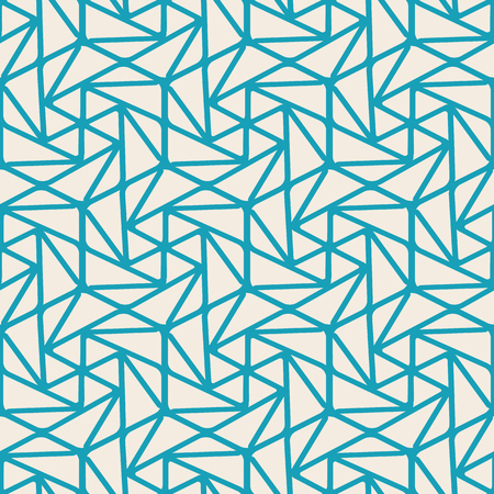 Illustration for Abstract minimalistic seamless pattern with curved linear repeating structure in vintage style vector illustration - Royalty Free Image