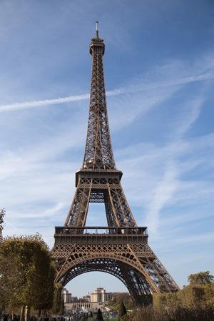 Photo pour Eiffel Tower, symbol of Paris, France. Paris Best Destinations in Europe/ - image libre de droit