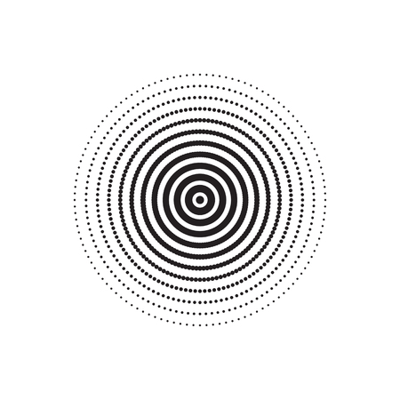 halftone circle vector  Halftone Dots  Dots on White Background