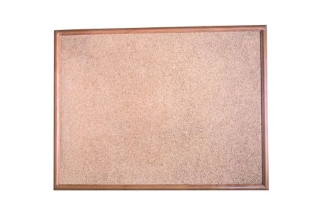 Photo for Office vintage blank cork notice board wooden hanging empty board isolated on white background - Royalty Free Image
