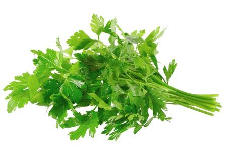 Fresh parsley on white background. Isolated over white