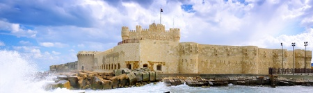 Kite-Bey Fortress built on the ruins of the Alexandria lighthouse. Alexandria, Egypt