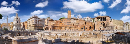 Roman forum in Rome, Italy.Panorama