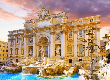 Fountain di Trevi - most famous Rome