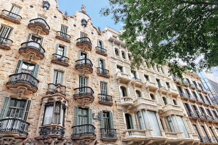 Beautiful historical landscape of the urban view Barcelona, Catalonia, Spain.