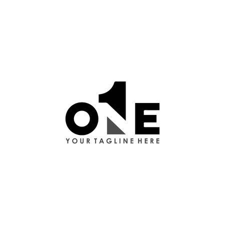 Illustration pour one logo design vector isolated on white background - image libre de droit