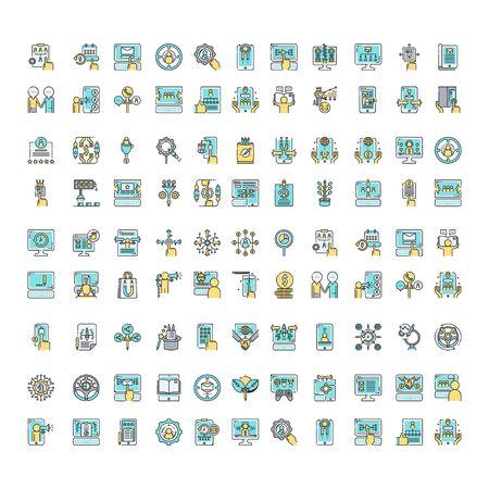 Illustration for set of business icon symbol logo design vector - Royalty Free Image