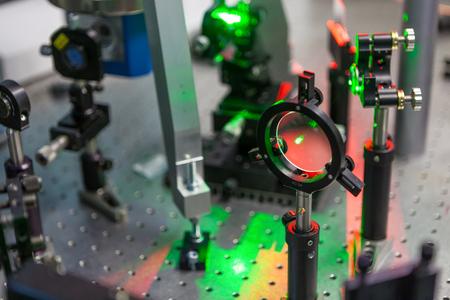 Photo pour the study of lasers on the test bench - image libre de droit