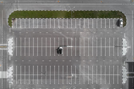 Photo for top view of the Parking lot - Royalty Free Image