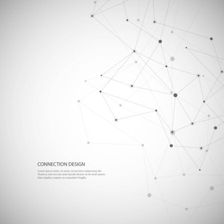 Illustration pour Vector global creative social network. Abstract polygonal background with lines and dots - image libre de droit