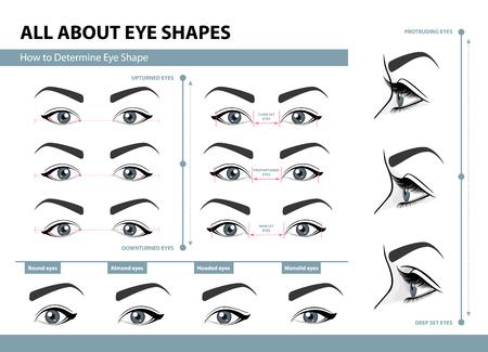 Illustration pour How to determine Eye Shape. - image libre de droit
