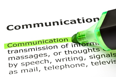 Photo for The word 'Communication' highlighted in green with felt tip pen - Royalty Free Image