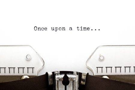 Once upon a time... written on an old typewriter