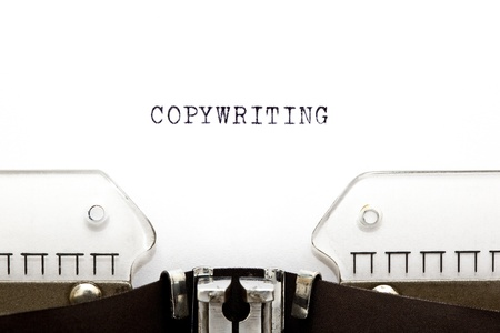 Concept image with Copywriting printed on an old typewriter