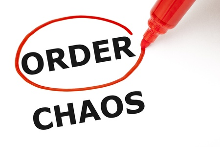 Choosing Order instead of Chaos  Order selected with red marker