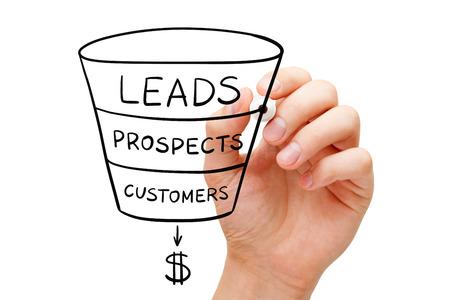 Photo pour Sales Funnel Business Concept - image libre de droit