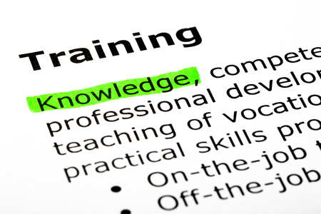 Foto de Dictionary Definition Of The Word Training - Imagen libre de derechos