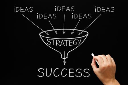 Photo pour Ideas Strategy Success Funnel Concept - image libre de droit