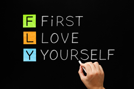 Photo for FLY - First Love Yourself Acronym Concept - Royalty Free Image