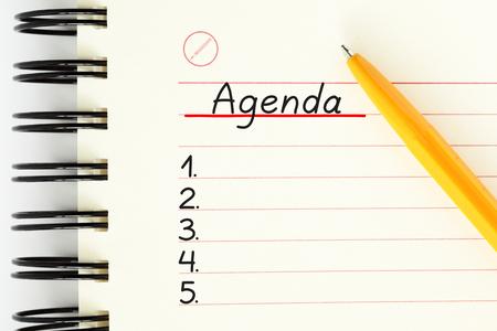 Photo pour Blank Agenda Planner List Concept - image libre de droit