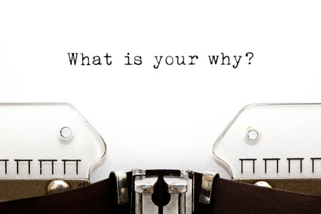 Foto de What Is Your Why Question Typewriter - Imagen libre de derechos