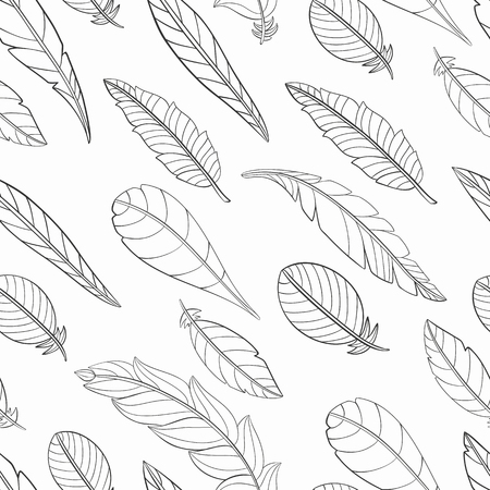 Zentangle Stylized Feather Coloring Page Hand Stock Vector ... | 450x450