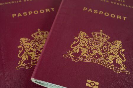 Photo pour Two Dutch Passports close up - image libre de droit