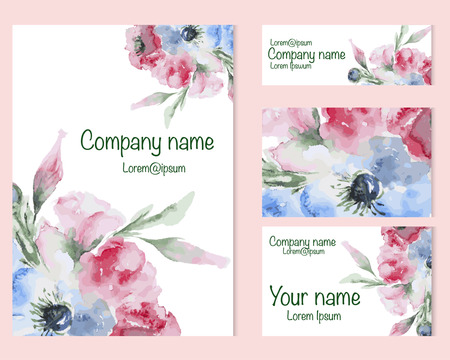 Set Of Business Card And Invitation Card Templates With