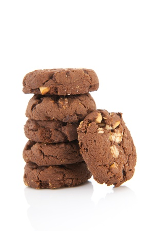 Pile chocolate cookies
