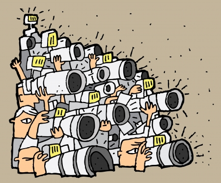 Paparazzi cartoon No.1. Illustration is in eps8 vector mode.