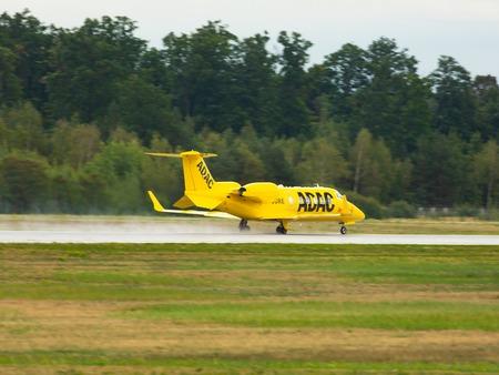 Learjet 60XR Aero-Dienst takes off
