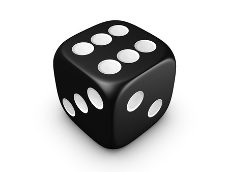 black dice isolated on white background