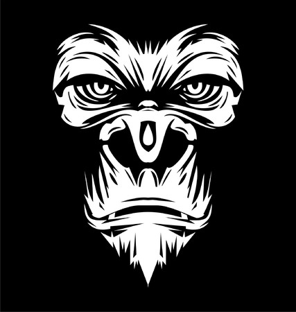 White Gorilla Face