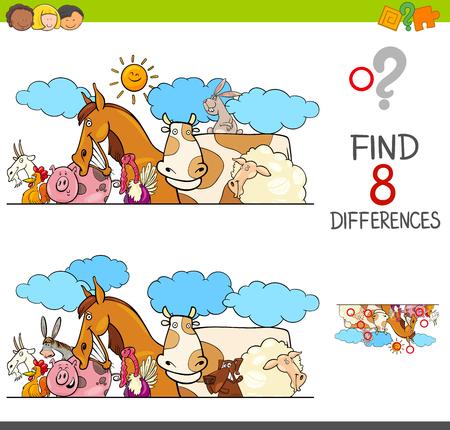 Illustration pour Cartoon illustration of kids learning activity game. - image libre de droit