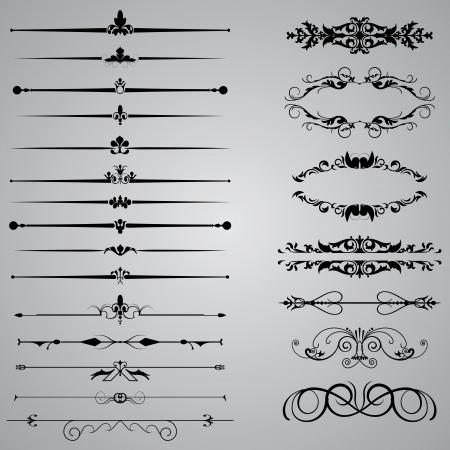 Illustration pour Set of twenty two Dividers for your designs - image libre de droit