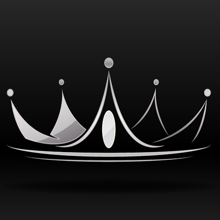 Illustration for silver crown vector graphic - Royalty Free Image