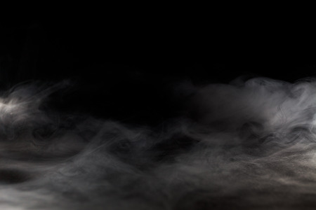 Photo pour Abstract  fog or smoke move on black color background - image libre de droit